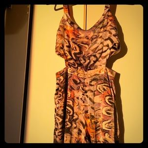 Lucca Couture colorful cutout jumpsuit